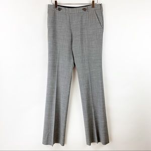 Tory Burch Flat Front Glen Plaid Trouser 6